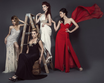 Katia Pershin Fashion Photography Red Cross Charity Campaign Cantas Gowns