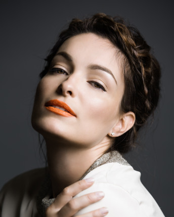 Glamour Portrait Photography Woman Orange Lips