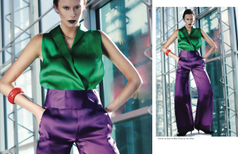 Katia Pershin Fashion Photography Dark Architecture Metal Green Purple Bright Crisp Vigore Magazine