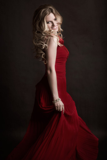 Glamour Photography Blonde Sequence Dress Female Portrait Ottawa