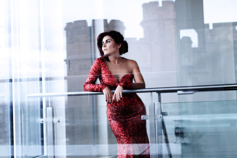 Cantas Evening Gown Red Sequence Dress Woman Ottawa