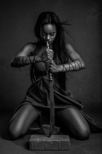 Glamour Warrior Princess Sword Ottawa Photography