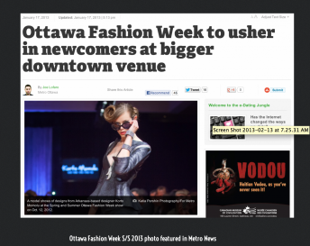 Katia Pershin Photography Commercial Portraits Ottawa Fashion Week