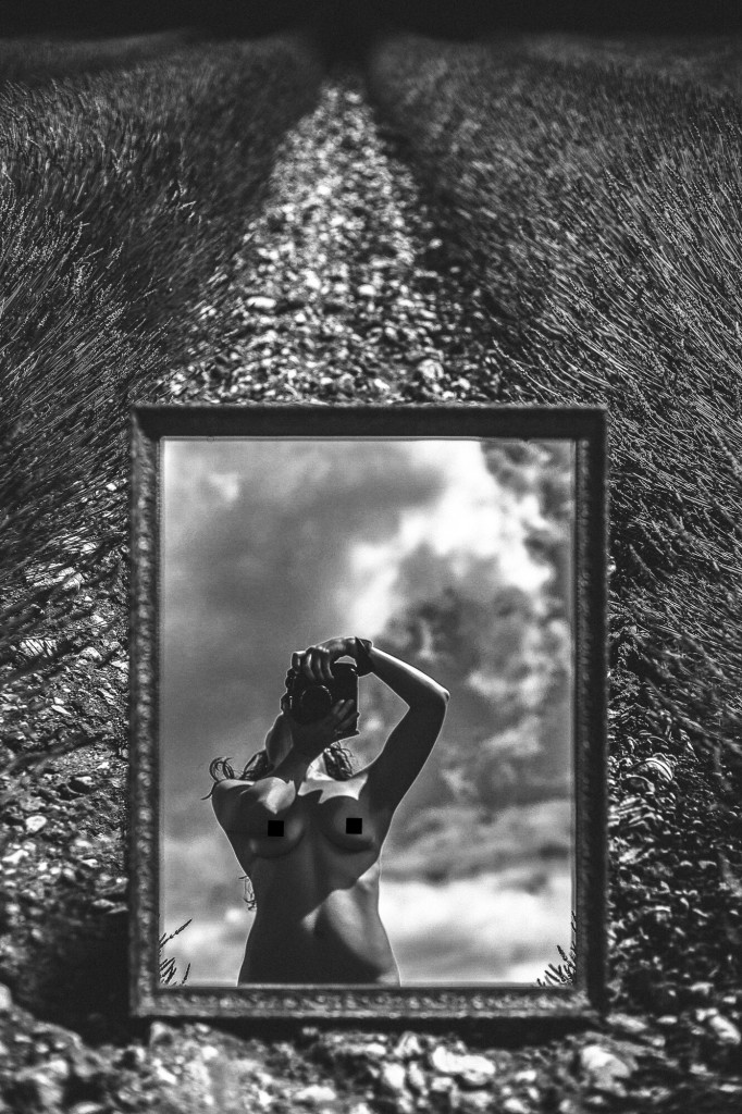 Katia Pershin self portrait photographer nude art ottawa orange county France Provence Nude Art Photography Lavender Field